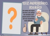 Feliz Aniversário para Sogro Montar Foto Grátis