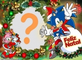 Sonic Feliz Natal Fazer Colagem de Fotos