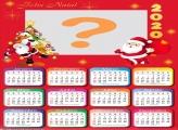 Calendário 2020 Feliz Natal Foto Montagem