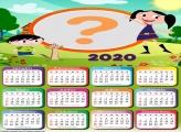Moldura para Calendário 2020 do Show da Luna
