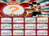 Calendário 2022 Mickey Circo Foto Colagem