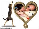 Cachorro e Coração de Corda