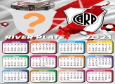 Calendário 2021 River Plate Time de Futebol