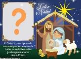 Presépio de Natal Moldura para Foto Montagem