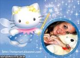 Moldura Fadinha Hello Kitty
