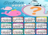 Montagem de Foto Calendário 2022 Baleias