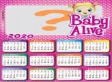 Foto Moldura Calendário 2020 Baby Alive