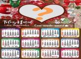 Calendário 2022 Natal para Namorados Colagem
