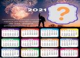 Montagem Calendário 2021 Pessoa Especial Feliz Ano Novo