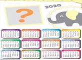 Calendário 2020 Elefantinho Amarelo