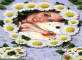 Moldura Coroa Flores Brancas