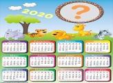 Calendário 2020 Infantil Safari Colagem de Foto