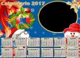 Calendário 2017 Guirlanda de Natal