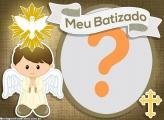 Moldura Batizado Anjinho Foto Montagem