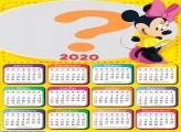Calendário 2020 Minnie de Amarelo
