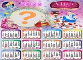 Calendário 2022 Infantil da Alice no País das Maravilhas
