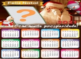 Calendário com Foto 2021 Papai Noel Feliz Natal