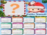 Calendário 2020 Natal Menino Noel Molduras de Natal