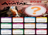Montagem de  Calendário 2021 Avatar A Lenda de Aang