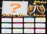 Colagem de Foto Calendário 2020 Feliz Ano Novo
