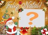 Papai Noel e Rena Feliz Natal FotoMontagem