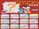 Calendário 2022 da Mônica com Foto Montagem