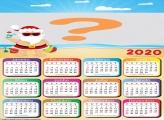 Calendário 2020 Papai Noel Praia Cute