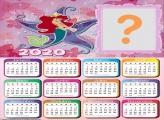 Moldura para Calendário 2020 Princesa do Mar