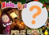 Monta Foto Masha e o Urso Feliz Natal
