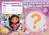 Convite A Casa Mágica da Gabby