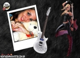 Moldura Mulher Guitar Hero