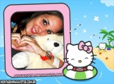 Moldura Hello Kitty na Bóia