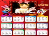 Calendário 2018 Minnie e Mickey Disney