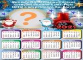 Foto Montagem Calendário 2021 Frase de Natal