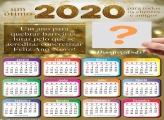 Calendário 2020 para Clientes Ano Novo