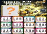 Calendário 2022 Foto Moldura Trasnformer Bumblebee