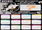 Calendário 2020 do Vasco Foto Montagem