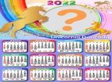 Calendário 2022 Unicórnio Dourado Online