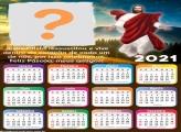 Calendário 2021 de Feliz Páscoa Jesus Cristo