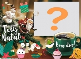 Moldura de Bom dia e Feliz Natal