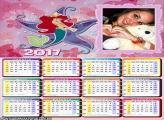 Calendário 2017 Princesa Sereia