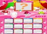 Calendário 2019 Hello Kitty Cogumelo