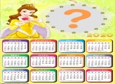 Calendário 2020 da Princesa Bela Moldura