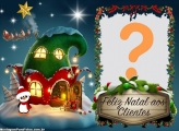 Montar Foto Clientes Feliz Natal