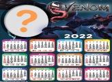 Calendário 2022 Venom Montar Foto Grátis