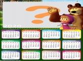 Calendário 2020 Masha e o Urso Desenho