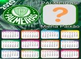 Calendário 2020 Time do Palmeiras Foto Moldura