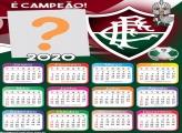 Calendário 2020 do Fluminense Foto Montagem