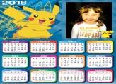 Calendário 2018 Pikachu Pokémon