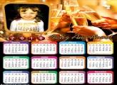 Emoldurar Feliz Ano Novo Calendário 2018